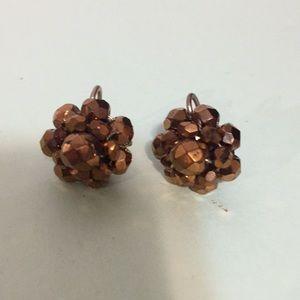 "Vintage earrings jewelry screw on style 3/4"""